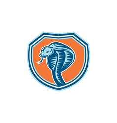 Cobra Viper Snake Head Shield Retro vector image
