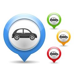 Retro Car Icon vector image vector image