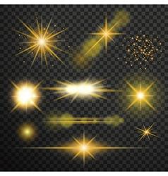 Transparent glow light effect vector image vector image