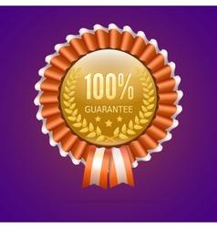 Badge 100 guarantee vector image