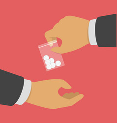 buying drugs concept vector image