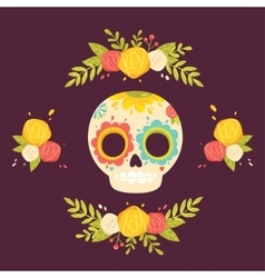 Day of the dead colorful vector image
