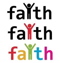 faith word vector image vector image