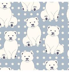 Polar bears seamless pattern vector image