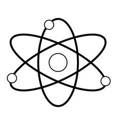 atom molecule particle structure biology line vector image