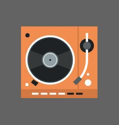 gramophone icon vinyl disk recorder audio system vector image vector image