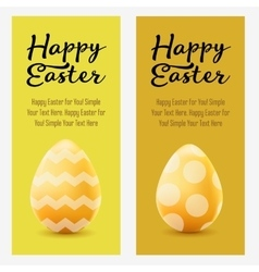 Happy Easter greeting post card with colored eggs vector image vector image