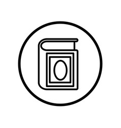 islamic icon quran icon- iconic design vector image