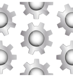 Seamless background with gears vector image vector image