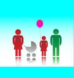 The family and kids vector image vector image