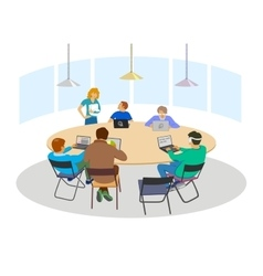 Business meeting sign vector image