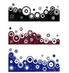 3 Grunge Border Designs 1 vector image vector image