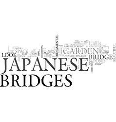A guide to japanese gardens text word cloud vector