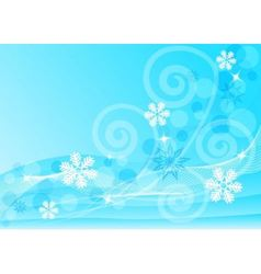 abstract blue background with snowflakes vector image
