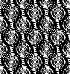 Abstract seamless pattern of round twisted vector