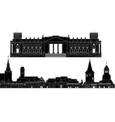 architectural vector image