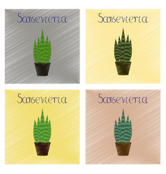 Assembly flat shading style plant vector