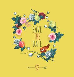 beautiful save date design template vector image