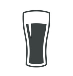 beer glass icon iweb sign symbol logo label vector image