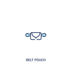 belt pouch concept 2 colored icon simple line vector image
