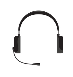 black headphones with vector image