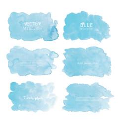 blue watercolor background pastel watercolor vector image