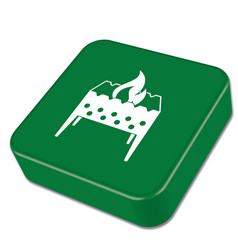 Brazier icon vector