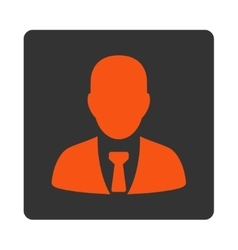 Businessman Icon from Commerce Buttons OverColor vector image