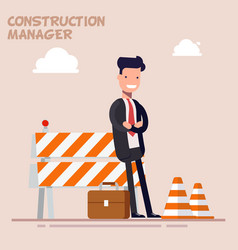 Businessman is a manager or a foreman is standing vector