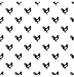 Chicken pattern seamless vector