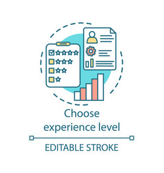 Choose experience level concept icon levels of vector
