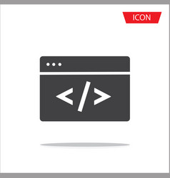 coding icon isolated on background vector image