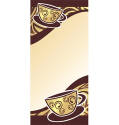 Coffee cups background vector image vector image