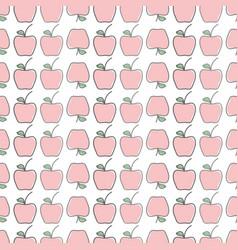 Delicious apple healthy fruit background vector