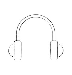 earphones device isolated icon vector image