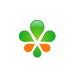eco green leaf decoration logo vector image