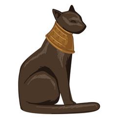 egyptian cat bastet deity goddess egypt culture vector image