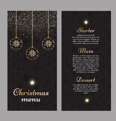 Elegant christmas menu design vector