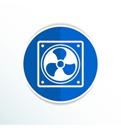 Fan icon airflow cooling cooler confusing manual vector