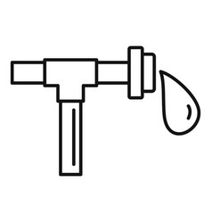 Farm drop pipe icon outline style vector