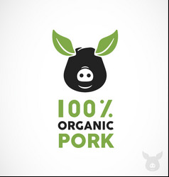 farm fresh pork vector image