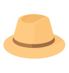 Fedora icon cartoon style vector