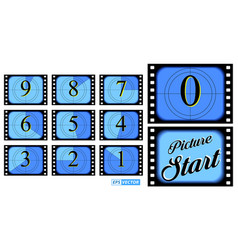 Film countdown frame isolated or creative counted vector