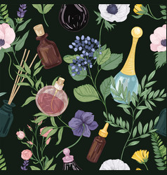 floral seamless pattern with gorgeous tender vector image