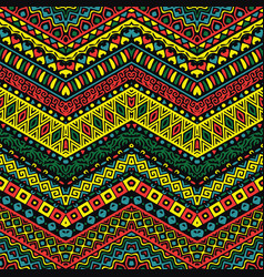 Full color pattern with ethnic ornaments vector