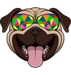 Funny kind pug vector image