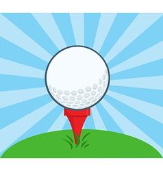 Golf Ball With Tee Ready vector