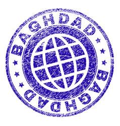 Grunge textured baghdad stamp seal vector