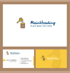 honey logo design with tagline front and back vector image