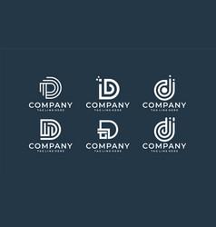 inspirational letter d monogram logo design vector image